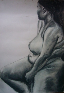 Life drawing - charcoal