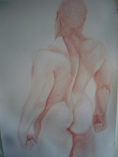Life drawing- pencil
