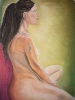 Life drawing - pastels