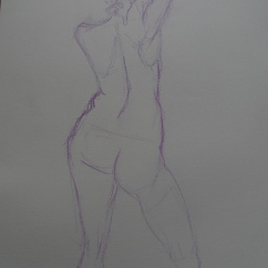 Life drawing - pencil