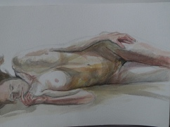 Life drawing - watercolour