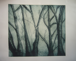 Woods, drypoint