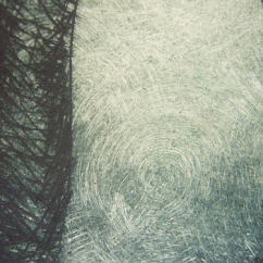 Woods, drypoint (detail)