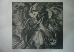 Stone angel, soft ground etching