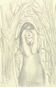 Ghost girl, pencil