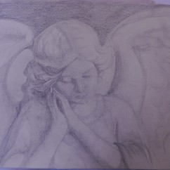 Stone angel, pencil
