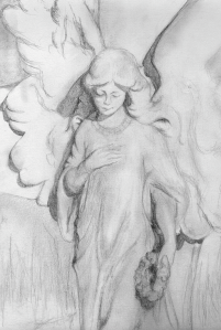 Stone angel (pencil)